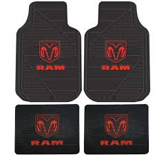 Amazon.com: Dodge Ram Head Logo 4 Pc Floor Mats Set: Automotive
