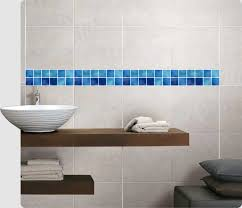 mosaik bordüre blau fliesenaufkleber fliesenbild fliesen