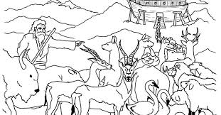 Bible Story Coloring Pages Moses Noah Ark