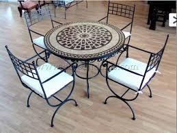 table ronde mosaique fer forge table de jardin en fer forge mosaique bordeaux 3732