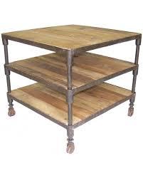 canap sur roulettes bout de canapé table d appoint bois recyclé industriel pieds roulettes