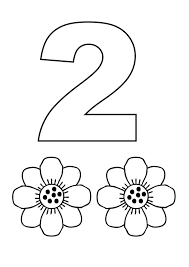 Printable Number Coloring Pages For Kids Page Sheet 2 Educations