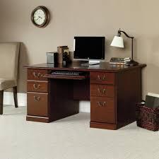 Sauder Shoal Creek Executive Desk Assembly Instructions by Desks Beginnings Cinnamon Cherry Desk With Storage Sauder Corner