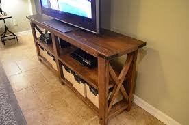 Wall Units Diy Wood Tv Stand Plans Homemade Ideas Crate