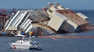 costa concordia shipwreck pulled upright off giglio italy