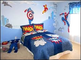 Superhero Wall Decor Stickers by Simple Kids Bedroom With Superhero Wall Decor And Pillow Cover