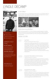 Young Adults Pastor Media Tech Administrative Resume Samples