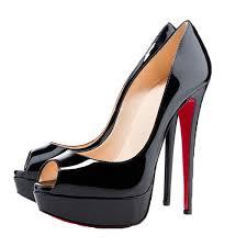 com san hojas peep toe sandals women red bottom high heels pumps