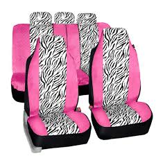 Airbag Compatible Zebra Velour Full Set Seat Covers FH GROUP AUTO