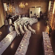 Indoor Ceremony And Reception Perfect For Then Pull The Chairs Over