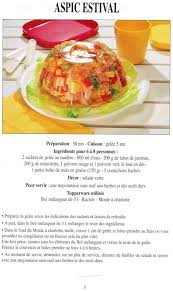 guide cuisine recettes un guide d aide et d astuces pour les tupperware aspic estival