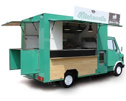 Mercedes Food Truck For Hamburgers And French Fries Vending