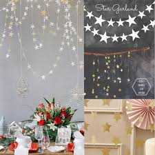 M Gold Star Garlands Paper Birthday Party Decorations Hanging Wedding Children Room Wall