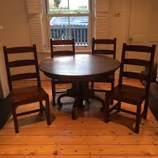 100 Heavy Wood Dining Room Chairs Solid Wood Dining Table With Four Heavy Solid Chairs In