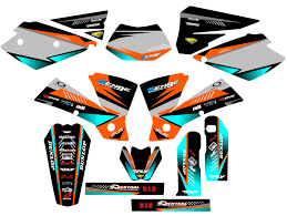 kit deco 125 sx 2004 2004 ktm exc 200 250 300 450 525 graphics kit deco decals stickers