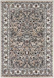carpeto rugs orientalisch blumen teppich kurzflor weich teppich für wohnzimmer schlafzimmer esszimmer öko tex wohnzimmerteppich grau 80 x