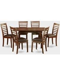 East West Furniture Norfolk 7 Piece Straight Ladder Back Dining Table Set