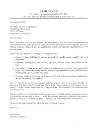 Best Ideas Of Cover Letter For Kfc With No Experience Oil Field Supervisor Sample