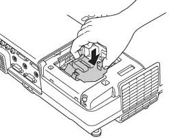how to replace the epson powerlite 822 projector l dlp l