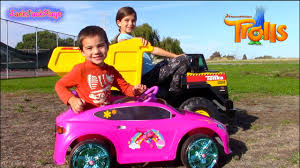Dynacraft Pink TROLLS Battery Powered Ride On Car | Tonka 12V Dump ...