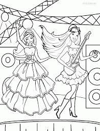 Barbie Rockstar Coloring Pages