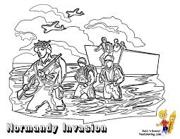 Normandy Invasion Allied Army Coloring At YesColoring