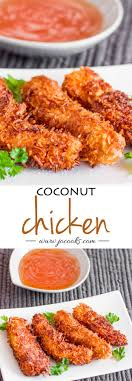 Coconut Chicken If You Love Fried Then This Is For Strips Dipped In Eggs And Coated With Flakes To