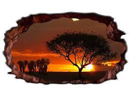 3d wandtattoo afrika savanne elefant safari baum motiv wohnzimmer wand aufkleber sticker 11m151 p wandtattoos und leinwandbilder günstig