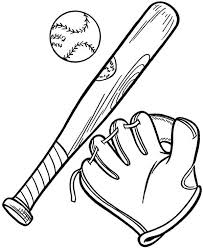 Complete Baseball Gears In MLB Coloring Page