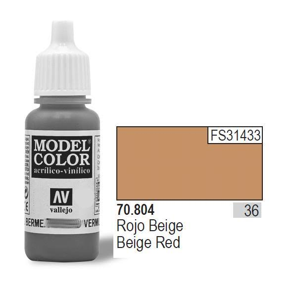 Vallejo Model Colors Acrylic Paint - 036 Beige Red