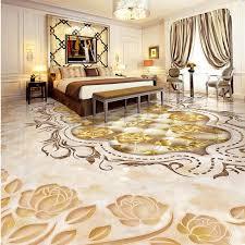 Free Shipping Marble Texture Parquet Flooring Wallpaper Bedroom Bathroom Office Hotel Decoration Wear Floor Mural