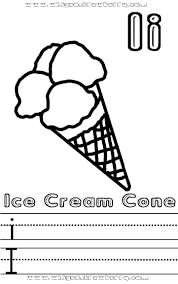 Ii Ice Cream Cone Preschool Coloring Sheet