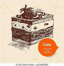 Chocolate Cake clipart vintage 3