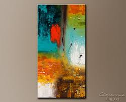 Vertical Abstract Painting Landmarks