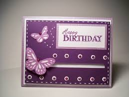 Happy Birthday Purple Spinning Butterfly Card