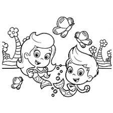 Gil And Molly Having Fun Coloring Page