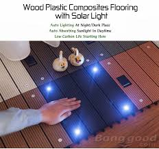 wood plastic composite flooring with solar light outdoor garden