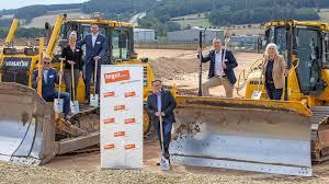 spatenstich für neues tegut logistikzentrum in hünfeld