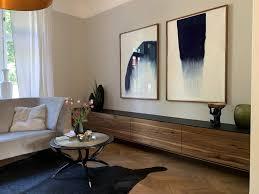 schwebendes sideboard aus nussbaum b k design