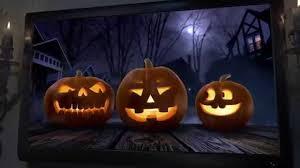Halloween Decorated Pumpkins On Dark Rustic Background Halloween