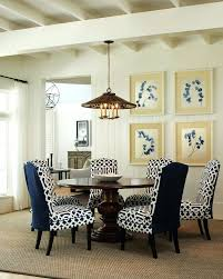 Peaceful Navy Blue Dining Chair Slipcover L5181830