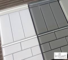 white glass subway tiles and trims available in 3x6 4x8 and