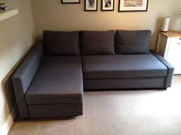 soft fabric ikea friheten sofa bed in dark gray color with chaise