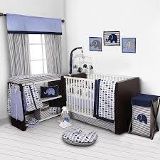 Amazon Elephants Blue Grey 10 pc crib set including Bumper