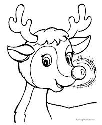Free Printable Rudolph Coloring Pictures
