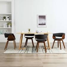 topdeal esszimmerstühle 4 stk grau bugholz und stoff 36056