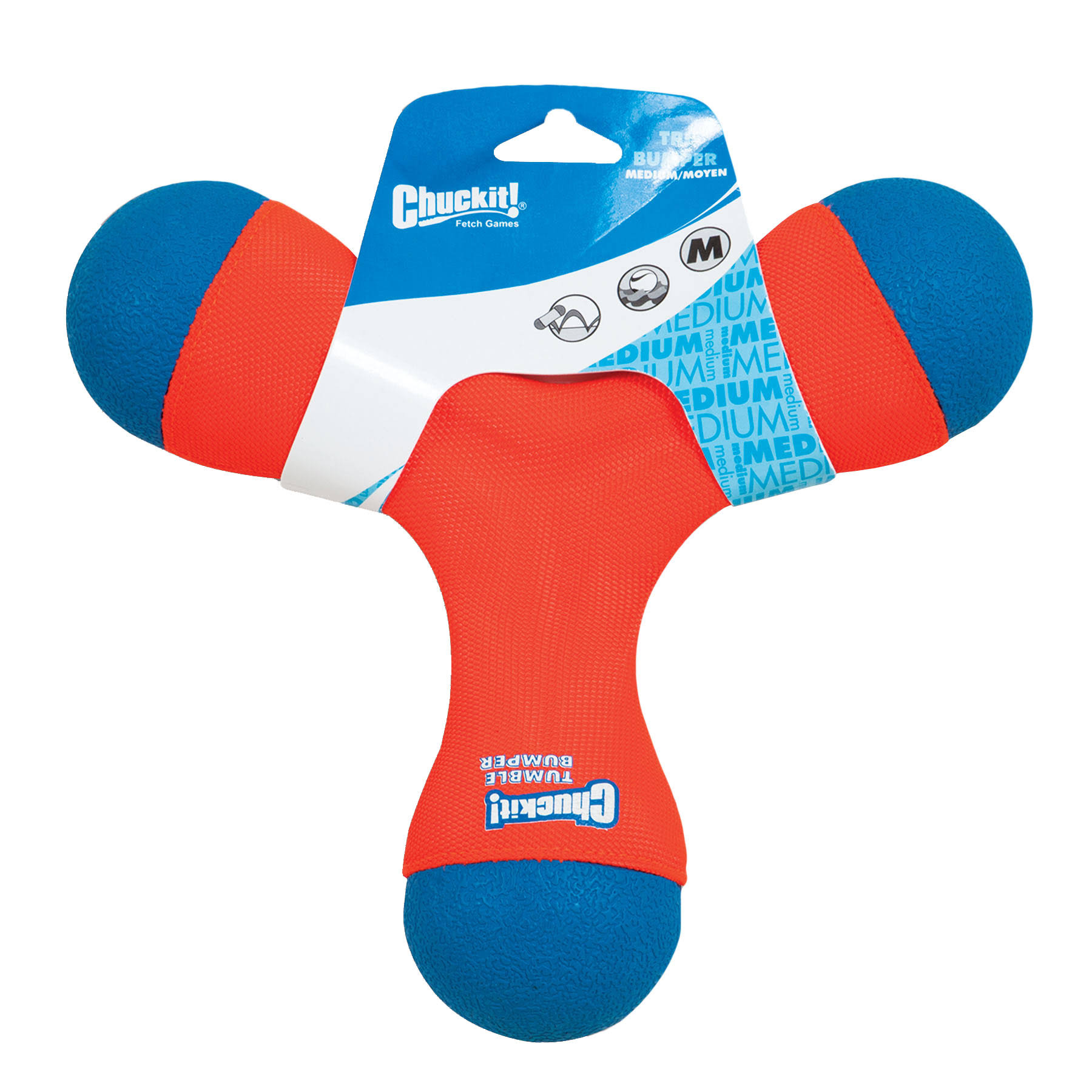 Chuckit Tri Bumper Dog Toy - Medium