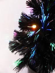 Tabletop Fibre Optic Christmas Tree by 60cm Black Fibre Optic Christmas Tree With Multi Coloured Led