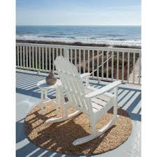 Polywood Seashell Adirondack Rocking Chair by Frontera Adirondack Chairs Outdoor Furniture Outdoor