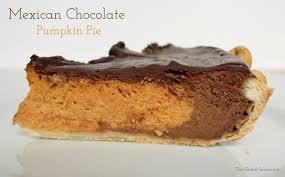 Epicurious Pumpkin Pie by The Gleeful Gourmand Mexican Chocolate Pumpkin Pie